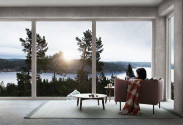 Skal du ha store vindusflater er det viktig med lav U-verdi